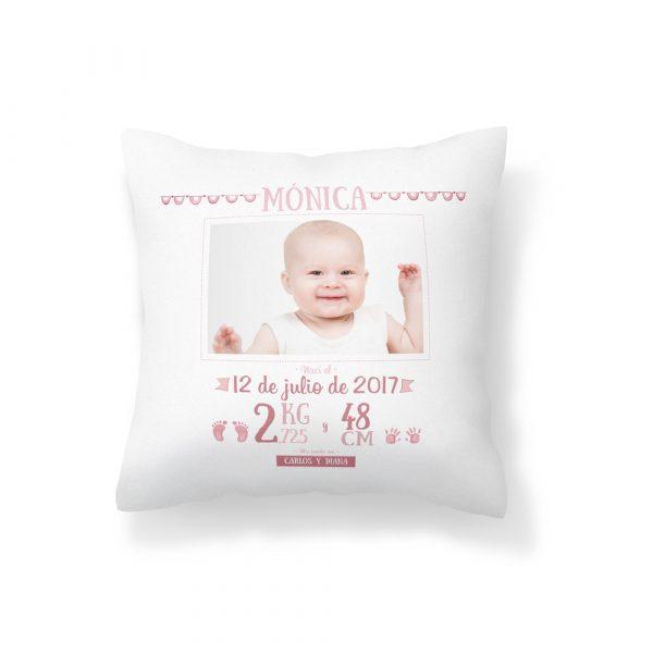 cojin nacimiento niña