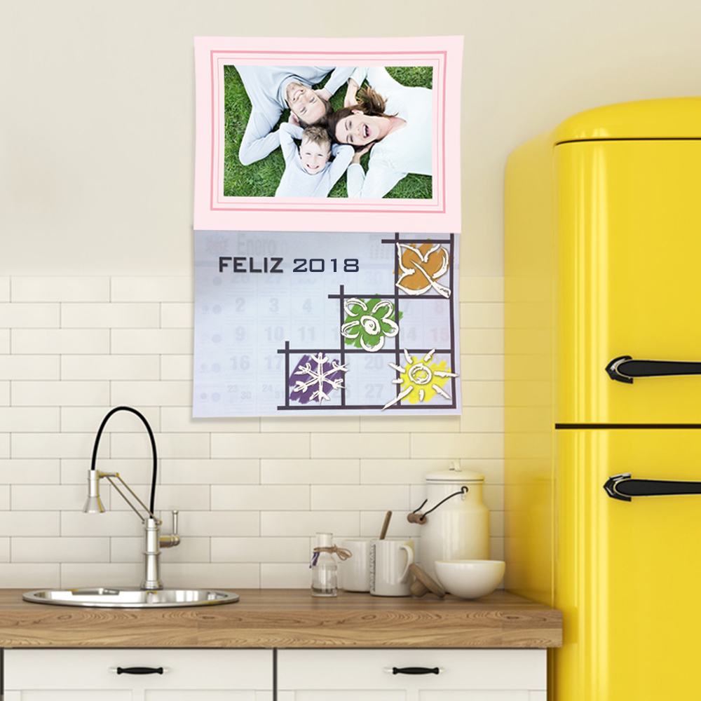 Calendario 2018 faldilla grande pared