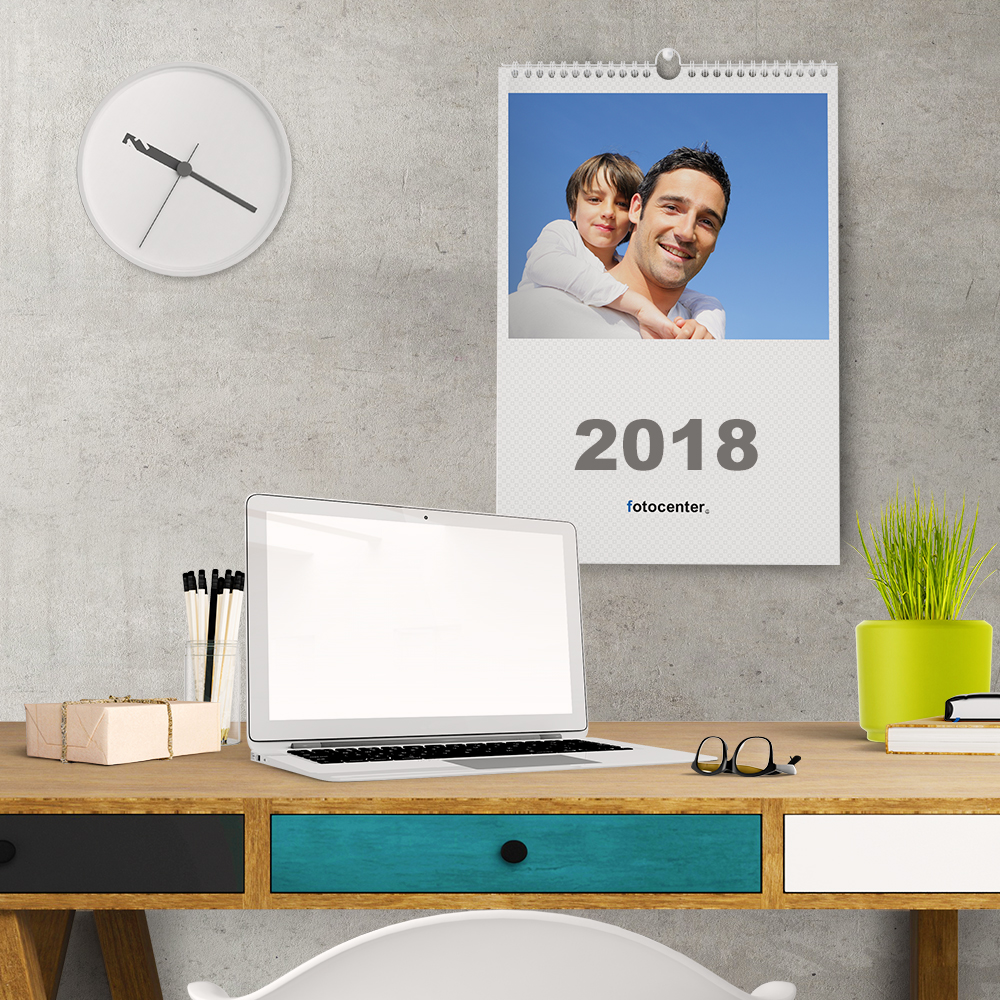 Calendario de pared con fotos